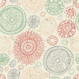 Doodles flower seamless pattern Royalty Free Stock Image