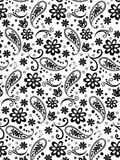 Doodles flowers Seamless Pattern Stock Photo