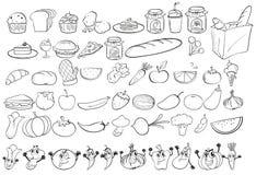 Doodles food Stock Photo