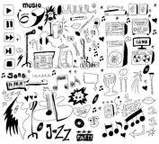 Doodles funny music background Royalty Free Stock Image