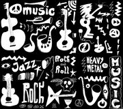 Doodles funny music Royalty Free Stock Photo