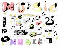 Doodles funny music Royalty Free Stock Photos
