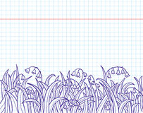 Doodles with grass. And lily of the valley Stock Images