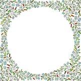 doodles Het malplaatje van de groetkaart, hand getrokken vector Royalty-vrije Stock Afbeeldingen