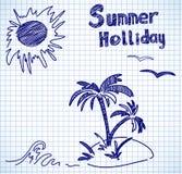 Doodles holliday del verano Imagenes de archivo