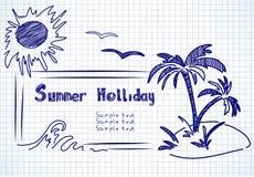 Doodles holliday di estate Fotografie Stock