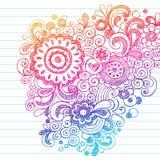 Doodles imprecisi astratti disegnati a mano del fiore illustrazione di stock