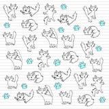 doodles kiciuni Royalty Ilustracja