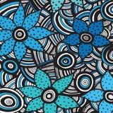 Doodles kwiatu abstrakcjonistyczny tło Zdjęcie Stock