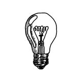 Doodles of light bulb icon Stock Images