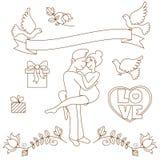 Doodles love set Royalty Free Stock Photos