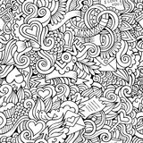 Doodles Love vector sketchy seamless pattern Royalty Free Stock Photography