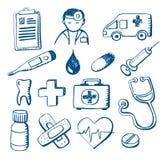 Doodles médicos Fotos de Stock