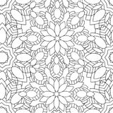 Doodles mandala bezszwowego wzór Zdjęcia Royalty Free