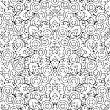 Doodles mandala seamless pattern Stock Photo