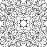 Doodles mandala seamless pattern Royalty Free Stock Image