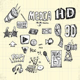 Doodles Media Stock Images