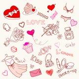 doodles miłość Fotografia Stock