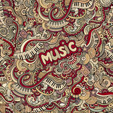 Doodles music seamless pattern Stock Photography