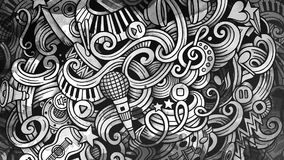 Doodles Musical illustration. Creative music background. Graphic Royalty Free Stock Photos