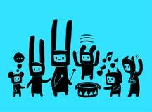 Doodles musicales Fotos de archivo libres de regalías