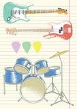doodles muzykę Obrazy Royalty Free