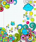 Doodles no caderno Imagem de Stock Royalty Free