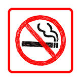 Doodles of no smoking sign Stock Photography