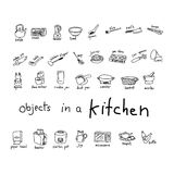 Doodles of object in kitchen Stock Photography