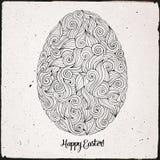 Doodles ornament easter egg background Royalty Free Stock Image
