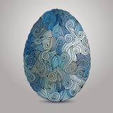 Doodles ornament easter egg background Royalty Free Stock Photos