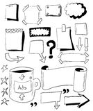 Doodles paper notes Royalty Free Stock Photo