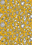 Doodles pattern. A funny doodles pattern design Stock Images