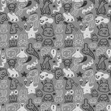 Doodles pattern. A seamless doodles pattern background Royalty Free Stock Photo