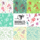Doodles patterns Royalty Free Stock Photography