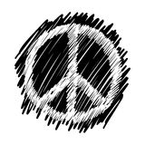 Doodles of peace symbol Stock Images