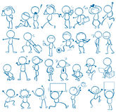 Doodles people Royalty Free Stock Images