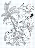 doodles podróż Zdjęcia Royalty Free