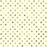 Doodles polka dotted pattern. Royalty Free Stock Images