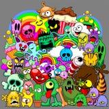 Doodles potworów saga Zdjęcie Royalty Free