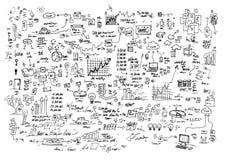 Doodles praca zdjęcia royalty free