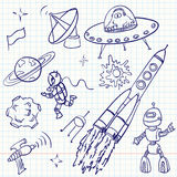 doodles przestrzeń Obraz Stock