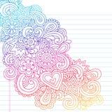 Doodles psicadélicos abstratos do caderno Imagem de Stock Royalty Free