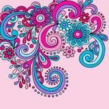 Doodles psicadélicos Groovy Imagem de Stock