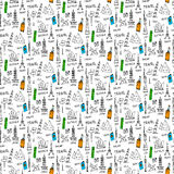 Doodles seamless pattern Stock Photos
