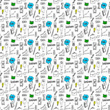 Doodles seamless pattern Stock Photography