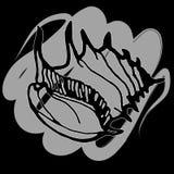 Doodles seashells на черной предпосылке Стоковые Изображения RF
