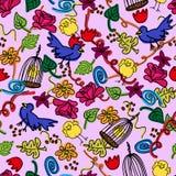 Doodles sem emenda Foto de Stock