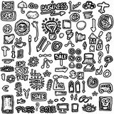 Doodles set business icons Stock Image