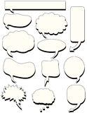 Doodles speech bubble talk Stock Photo